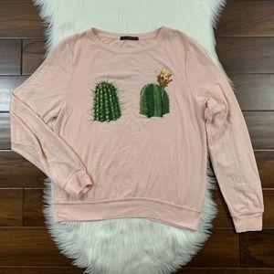 Wildfox Succulents Cactus Baggy Beach Jumper
